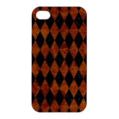 Diamond1 Black Marble & Brown Marble Apple Iphone 4/4s Premium Hardshell Case by trendistuff