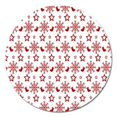 Christmas Pattern  Magnet 5  (round) by Onesevenart