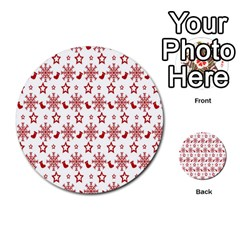 Christmas Pattern  Multi Purpose Cards (round)  by Onesevenart