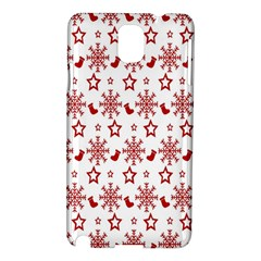 Christmas Pattern  Samsung Galaxy Note 3 N9005 Hardshell Case by Onesevenart