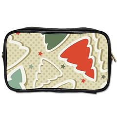 Christmas Tree Stars Pattern Toiletries Bags by Onesevenart