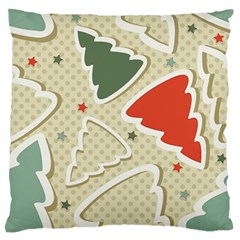 Christmas Tree Stars Pattern Standard Flano Cushion Case (two Sides) by Onesevenart
