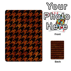 Houndstooth1 Black Marble & Brown Marble Multi Purpose Cards (rectangle) by trendistuff
