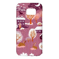 Cute Christmas Seamless Pattern Samsung Galaxy S7 Edge Hardshell Case