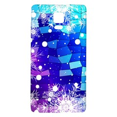 Christmas Snowflake With Shiny Polygon Background Vector Galaxy Note 4 Back Case by Onesevenart