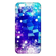 Christmas Snowflake With Shiny Polygon Background Vector Iphone 6 Plus/6s Plus Tpu Case by Onesevenart
