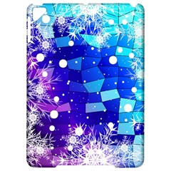 Christmas Snowflake With Shiny Polygon Background Vector Apple Ipad Pro 9 7   Hardshell Case by Onesevenart