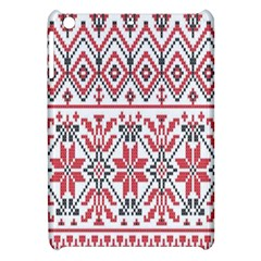 Consecutive Knitting Patterns Vector Background Apple Ipad Mini Hardshell Case by Onesevenart