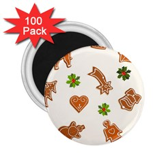 Cute Christmas Seamless Pattern  2 25  Magnets (100 Pack)  by Onesevenart