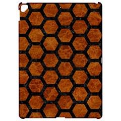Hexagon2 Black Marble & Brown Marble (r) Apple Ipad Pro 12 9   Hardshell Case
