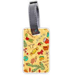 Cute Christmas Seamless Pattern Vector Luggage Tags (One Side)  by Onesevenart