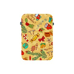 Cute Christmas Seamless Pattern Vector Apple Ipad Mini Protective Soft Cases by Onesevenart