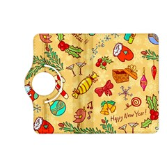 Cute Christmas Seamless Pattern Vector Kindle Fire Hd (2013) Flip 360 Case by Onesevenart