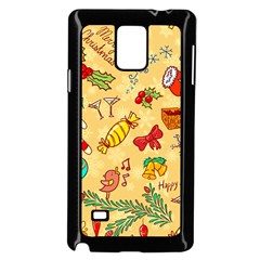 Cute Christmas Seamless Pattern Vector Samsung Galaxy Note 4 Case (black) by Onesevenart