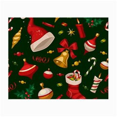 Cute Christmas Seamless Pattern Small Glasses Cloth by Onesevenart