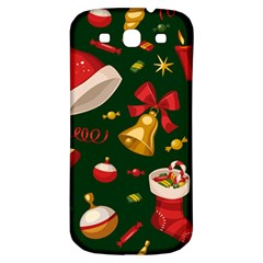 Cute Christmas Seamless Pattern Samsung Galaxy S3 S Iii Classic Hardshell Back Case by Onesevenart