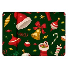 Cute Christmas Seamless Pattern Samsung Galaxy Tab 8 9  P7300 Flip Case by Onesevenart