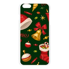 Cute Christmas Seamless Pattern Apple Seamless iPhone 6 Plus/6S Plus Case (Transparent) by Onesevenart