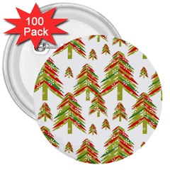 Cute Christmas Seamless Pattern Vector    3  Buttons (100 Pack)  by Onesevenart