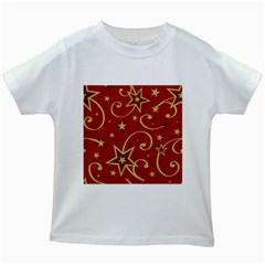 Elements Of Christmas Decorative Pattern Vector Kids White T Shirts by Onesevenart