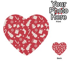 Pattern Christmas Elements Seamless Vector Multi Purpose Cards (heart)  by Onesevenart