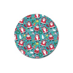 Cute Christmas Seamless Pattern Vector   Magnet 3  (round) by Onesevenart