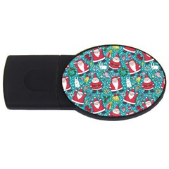 Cute Christmas Seamless Pattern Vector   Usb Flash Drive Oval (4 Gb)  by Onesevenart