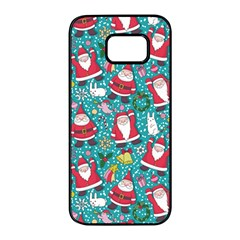 Cute Christmas Seamless Pattern Vector   Samsung Galaxy S7 Edge Black Seamless Case by Onesevenart