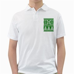 Knitted Fabric Christmas Pattern Vector Golf Shirts by Onesevenart