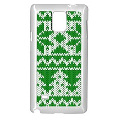 Knitted Fabric Christmas Pattern Vector Samsung Galaxy Note 4 Case (White) by Onesevenart