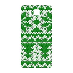 Knitted Fabric Christmas Pattern Vector Samsung Galaxy Alpha Hardshell Back Case by Onesevenart