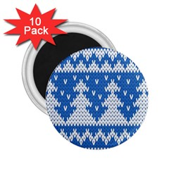 Knitted Fabric Christmas Pattern Vector 2 25  Magnets (10 Pack)  by Onesevenart
