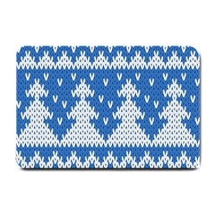 Knitted Fabric Christmas Pattern Vector Small Doormat  by Onesevenart