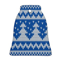 Knitted Fabric Christmas Pattern Vector Ornament (bell)  by Onesevenart