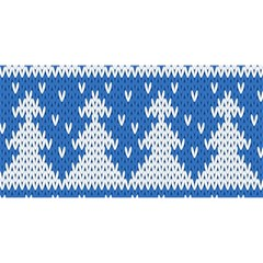 Knitted Fabric Christmas Pattern Vector You Are Invited 3d Greeting Card (8x4) by Onesevenart