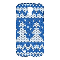 Knitted Fabric Christmas Pattern Vector Samsung Galaxy S4 I9500/i9505 Hardshell Case by Onesevenart