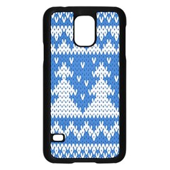 Knitted Fabric Christmas Pattern Vector Samsung Galaxy S5 Case (black) by Onesevenart