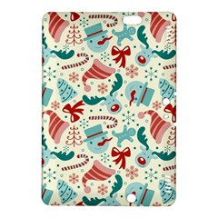 Pattern Christmas Elements Seamless Vector       Kindle Fire Hdx 8 9  Hardshell Case by Onesevenart