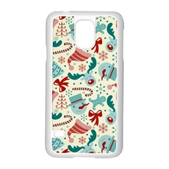 Pattern Christmas Elements Seamless Vector       Samsung Galaxy S5 Case (white) by Onesevenart