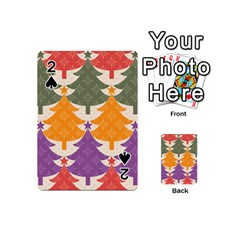 Tree Christmas Pattern Playing Cards 54 (Mini)  by Onesevenart