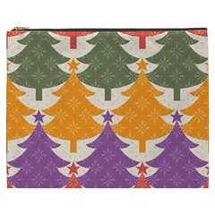Tree Christmas Pattern Cosmetic Bag (xxxl)  by Onesevenart