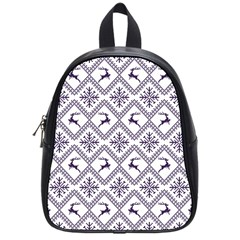 Simple Christmas Pattern Seamless Vectors  School Bags (small)  by Onesevenart