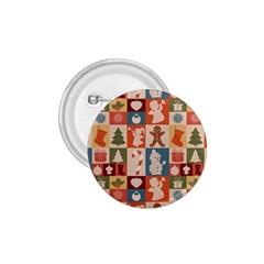 Xmas  Cute Christmas Seamless Pattern 1 75  Buttons by Onesevenart