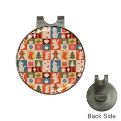 Xmas  Cute Christmas Seamless Pattern Hat Clips With Golf Markers by Onesevenart