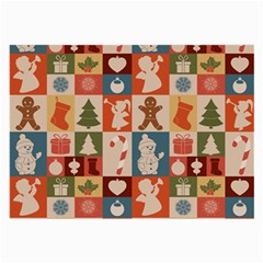 Xmas  Cute Christmas Seamless Pattern Large Glasses Cloth (2 Side)