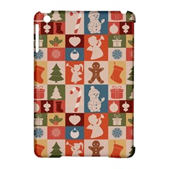 Xmas  Cute Christmas Seamless Pattern Apple Ipad Mini Hardshell Case (compatible With Smart Cover) by Onesevenart