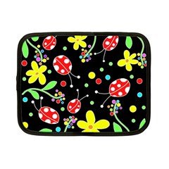Flowers And Ladybugs Netbook Case (small)  by Valentinaart