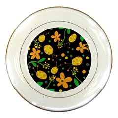 Ladybugs And Flowers 3 Porcelain Plates by Valentinaart