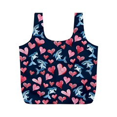 Shark Lover Full Print Recycle Bags (m)  by BubbSnugg