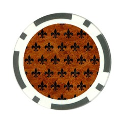 Royal1 Black Marble & Brown Marble Poker Chip Card Guard by trendistuff